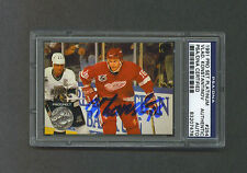 Vladimir Konstantinov signed 1991 Red Wings Pro Set Platinum rookie card Psa