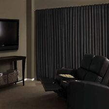 Black Velvet Custom Panel Drape 24W x 8H Movie Theater Show Backdrop Curtain