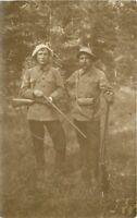 c1910 Germany Austria Hunters Rifles Funny Hats Uniforms RPPC Real Photo