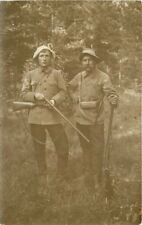 c1910 Germany Austria Hunters Rifles Funny Hats Uniforms RPPC Real Photo