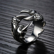 1 PC Rock Punk Male Biker Rings Stainless Steel Dragon Claw Rings for Men RDBD 10