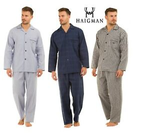 Haigman Mens 100% pure Cotton Soft pyjama. Striped or Checked. Size M.L.XL.XXL18