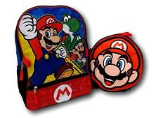 Super Mario Bros 16'' School Backpack + Lunch Box 9'' Nintendo Heroes