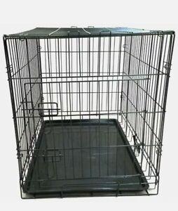 King Pets Single Door Pet Cage Metal and Mesh - Medium