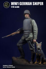 Model Cellar WW1 German Sniper with Dog Unpainted 120mm kit