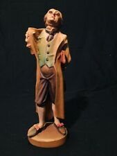 Anri Hand Carved Wood Figurine Rare Charles Dickens Series Character 8� Perfect!