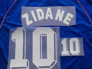 Flocage ZIDANE n° 10 en feutrine pour maillot équipe de France bleu patch shirt