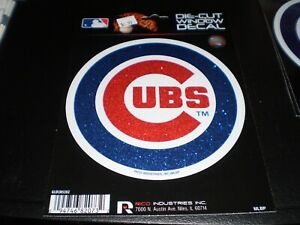 NEW Chicago Cubs Sparkle Die Cut  5.5 x 5.5   Decal Emblem Window Multi-Use