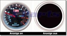PLASMA Ladedruckanzeige 52mm 3 BAR AutoGauge GTI RS S OPC Turbo Kompressor NEU