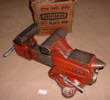Craftsman 5180 Swivel Base Bench Vise 3 58 Jaw Width Opens 4 Made In Usa