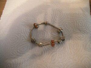 Pandora Armband 925 Silber 19,5 cm mit Charms