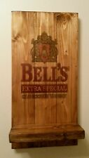 Bells whisky  sign plaque  and shelf  wooden  gift mancave shed bar