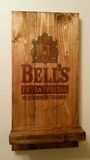 Bells whisky  sign plaque  and shelf  wooden  gift mancave shed bar