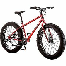 "26"" Men Mountain Bike 7-Speed Mongoose Hitch BIG FAT TIRE DISK BRAKES Bicycle"