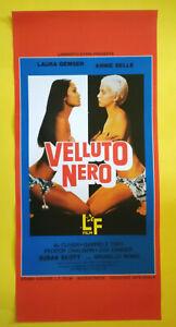 Locandina Cinematografica(Riproduzione) Film VELLUTO NERO zigi zanger no dvd vhs