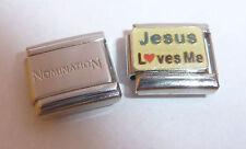 JESUS LOVES ME 9mm Italian Charm & 1 x Genuine Nomination Classic Link I LOVE