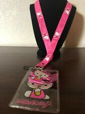 Hello Kitty Pink Lanyard with Name Badge & Hello Kitty Charm With Tracking