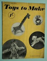 Vintage 1940s VOGUE TOYS TO MAKE Original Sewing Patterns Book WW2 WWII dolls