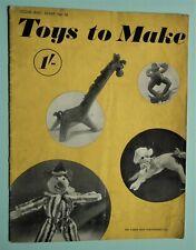 Vintage 1940s VOGUE TOYS TO MAKE Original Sewing Patterns Book WW2 WWII dolls