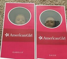 Lot of 2 American Girl Dolls Saige & Isabelle Doll of the Years NEW AND SEALED