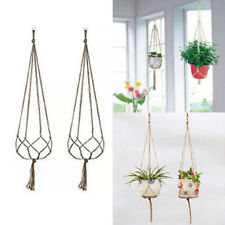 hemp rope new braided hanger pot green plant hanging rope basket   I