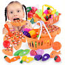 Kids Pretend Role Play Kitchen Fruit Vegetable Food Toy Cutting Set Gift Toy Kid