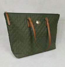 Tommy Hilfiger Dark Green Olive Women's Quilted Large Tote Purse/ Handbag