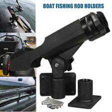1/2x Black Rotatable Canoeing Fishing Rod Holder Yacht Boat Sea Fishing Tackle