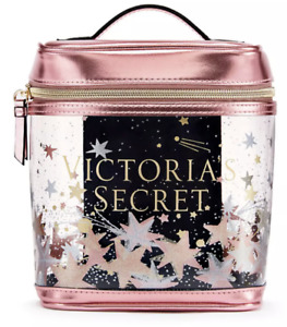 NWT VICTORIA'S SECRET CELESTIAL SHIMMER SMALL TRAIN CASE BEAUTY COSMETIC BAG