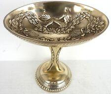 Superbe COUPE Ovale sur Pied en Bronze à Décors Antiques