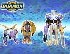 """Vintage 2000 Digimon Warp Digivolving Omnimon 8""""  WarGreymon Metalgarurumon 100%"""