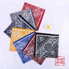 Cotton Handkerchiefs Sport Scarf Square Hanky Bandana Kerchief Men Women 58*58CM