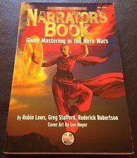 NARRATOR'S BOOK 2000 Game Mastering in the HERO WARS Glorantha RPG ISS1104 NEW!
