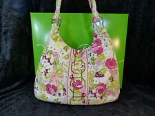 "VERA BRADLEY - MAKE ME BLUSH -  LARGE HOBO PURSE -  15 X 10 X 4""  - EUC -   *1"