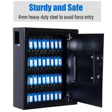 40 Steel Safe Hook Key Box With Tag Digital Lock Storage Case Cabinet Wall Mounted