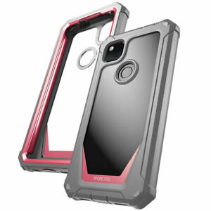 Poetic Shockproof Case For Google Pixel 4A Cover with Screen Protector Pink