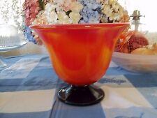 Large Art Glass Bowl Red/Orange in color