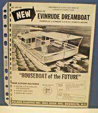 "Palmer Plastics Inc.1960 "" Evinrude Dreamboat"" single sided Dealer Sales flyer"