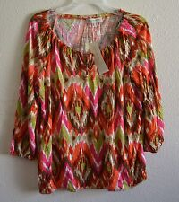 JONES NEW YORK SPORTS peasant printed tops # Size L @ $11.99 & FREE SH