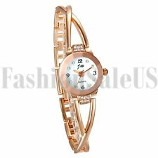 Fashion Women's Ladies Luxury Bracelet Rhinestone Dial Analog Quartz Wrist Watch