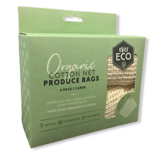 Organic Cotton Produce Bags (4 Pack)