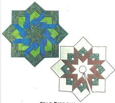 Star Ribbons tree skirt/ tablecloth quilt pattern Designs to Share for Checkers