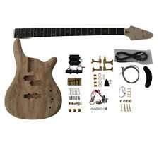 Coban Guitars DIY Kit 4 Strings Spalted veneer Bass 901 Gold Fit No Soldering