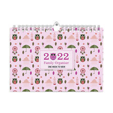 More details for 2022 owls family organiser calendar - one week to view /home/office planner