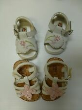 Girls Sandals 02 Faded Glory Strappy Sandals & Kid Connection White Leather