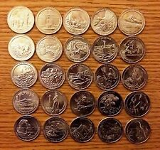 US NATIONAL PARKS QUARTER DOLLAR 60 COINS P+D FULL YEAR SETS 2010-2015
