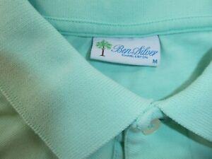 GREEN Medium BEN SILVER Shirt Men's polo shirt