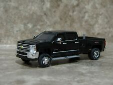Greenlight 1/64 2018 Black Chevrolet Silverado 3500 HD Pickup Truck Farm Toy