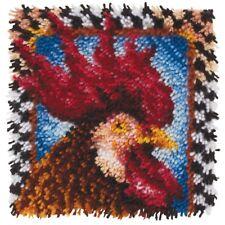 "Latch Hook Kit 12""sq Rooster - 12inch Wonderart x Spinrite Acrylic Blend"