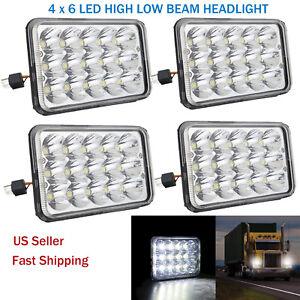 "4pcs 4X6"" CREE LED Headlights HI/LO H4656/4651 for GMC Jimmy Sonoma / Chevrolet"